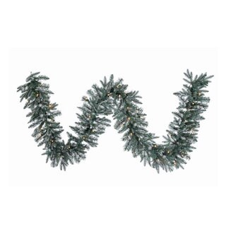 Vickerman Crystal Balsam Plastic 9-foot x 12-inch Garland with 50 Clear Dura-Lit Lights