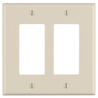 Leviton 005-80609-00T Light Almond Midway Size 2 Gang Decora Wall Plate