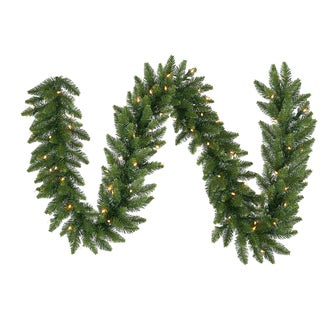 Vickerman 50-foot x 14-inch Camdon Garland with 550 Multicolored LED Lights