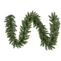 "50' x 14"" Pre-Lit Camdon Fir Commercial Artificial Christmas Garland - Multi LED"