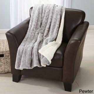Home Fashions Design Reversible Berber Faux-Fur Velvet Plush Throw (4 options available)
