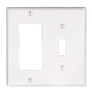 Leviton 005-80405-W 2-Gang White 1-Toggle 1-Decora GFCI Wallplate