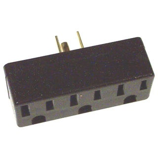 Leviton 005-00697-000 Brown Triple Tap Plug-In Outlet Adapter