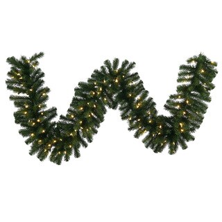 Vickerman 50-foot x 16-inch Douglas Fir Garland with 400 Warm-white LED Lights and 1550 Tips