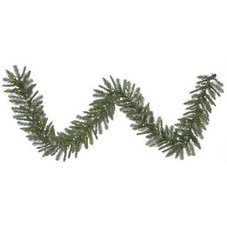 Durango Spruce 9-foot Garland With 50 Warm White LED Lights