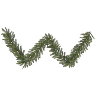 Durango Spruce Green Plastic 9-foot x 12-inch Garland with 50 Clear Dura-Lit Lights