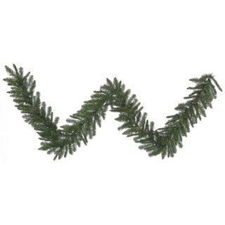 Vickerman Green Plastic 9-feet x 12-inches Durango Spruce Garland With 210 Tips