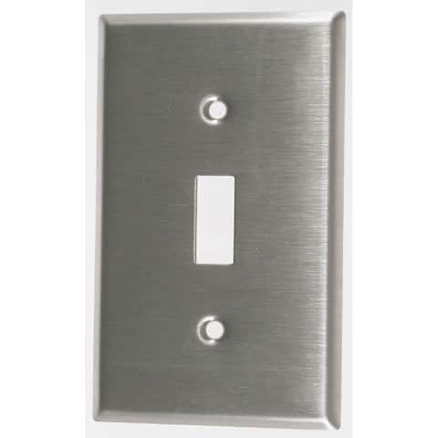 Leviton 004-84001-04 Single Gang Stainless Steel Single Toggle Wallplate