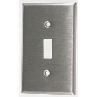 Leviton 004-84001-04 Single Gang Stainless Steel Single Toggle Wallplate