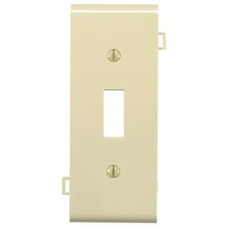 Leviton 004-0PSC1-00I Sectional Ivory Toggle Switch Center Panel Wallplate