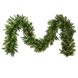 Vickerman Cashmere 25-foot x 18-inch Garland With 300 Clear Dura-lit Lights