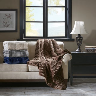 Premier Comfort Williams Corduroy Plush Down Alternative Throw 4 Color Option