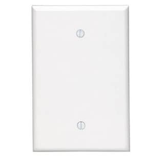 Leviton 002-88114-0 Single Gang White Box Mount Plastic Blank Wallplate