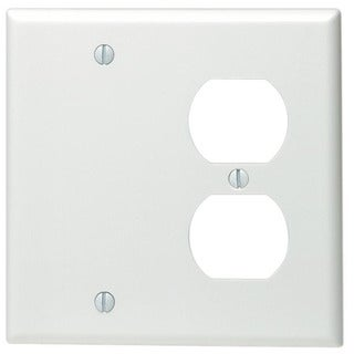 Link to Leviton 002-88008-0 Double Gang White Combo Blank & Duplex Wallplate Similar Items in Electrical