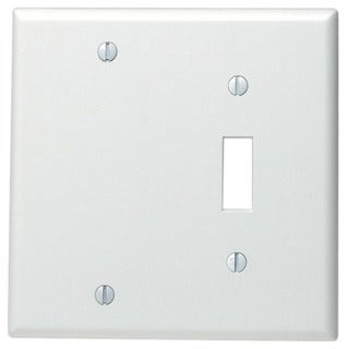 Link to Leviton 002-88006-0 Single Gang White Toggle & Blank Wallplate Similar Items in Electrical