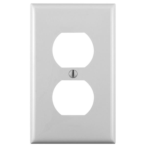 Leviton 001-88103-W Single Gang White Duplex Receptacle Wallplate