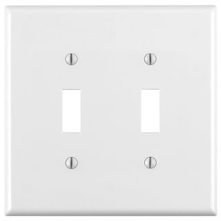 Leviton 001-88009 Double Gang White Double Toggle Wallplate