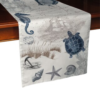 Laural Home Vintage Seaside Maritime Table Runner