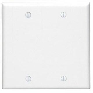 Leviton 001-88025-WHT Two Gang White Blank Box Mounted Plastic Wallplate