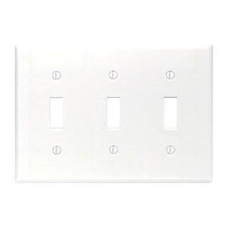 Leviton 001-88011 Triple Gang White Triple Toggle Wallplate