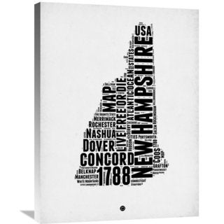 Naxart Studio 'New Hampshire Word Cloud 2' Stretched Canvas Wall Art
