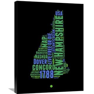 Naxart Studio 'New Hampshire Word Cloud 1' Stretche-canvas Wall Art