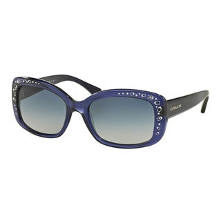 Coach HC8161F L563 51104L Navy Womens Plastic Rectangle Sunglasses