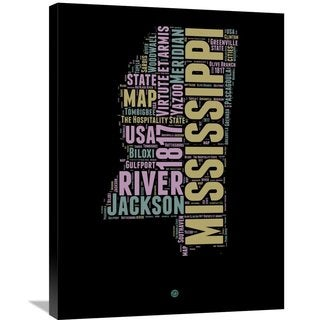Naxart Studio 'Mississippi Word Cloud 1' Stretched Canvas Wall Art