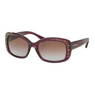 Coach HC8161 L146 504368 Purple Womens Plastic Rectangle Sunglasses