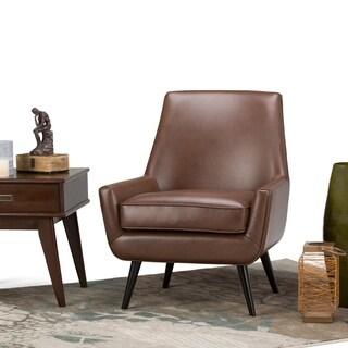 WYNDENHALL Carson Mid Century Air Leather Arm Chair