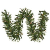 Vickerman 9-foot x 12-inch Mixed Country Pine Garland with 200 Tips