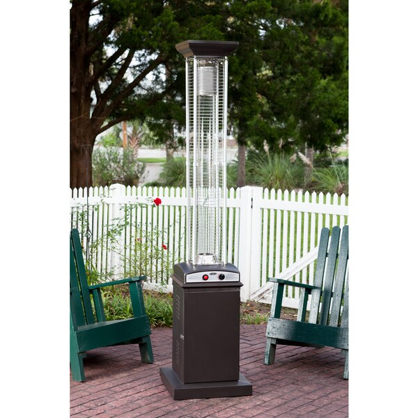 Fire Sense Mocha Square Flame Patio Heater   Free Shipping Today    Overstock.com   19195850