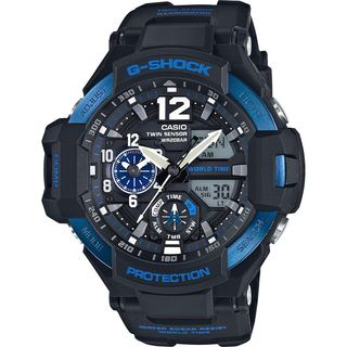 Casio Men's GA1100-2BCR 'G-Shock GravityMaster' Analog-Digital Black Resin Watch