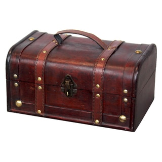 Decorative Wood Trunk-style Treasure Box
