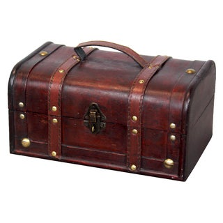 Decorative Wood Trunk-style Treasure Box - cherry