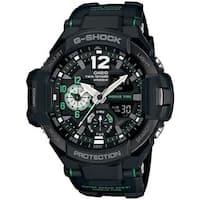 Casio Men's GA1100-1A3CR 'G-Shock GravityMaster' Analog-Digital Black Resin Watch