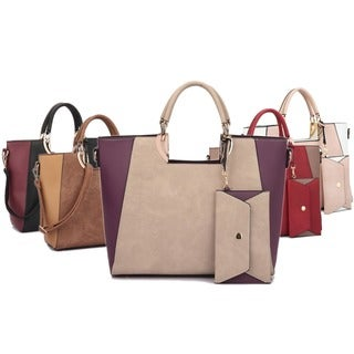 Dasein Square Handle Faux Leather Tote