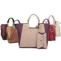 Dasein Square Handle Faux Leather Tote Bag