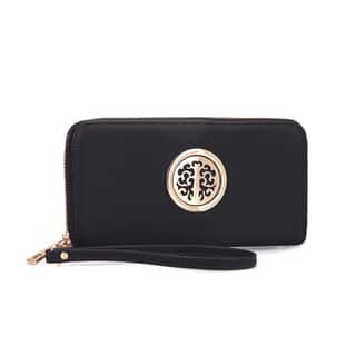Dasein Zip Around Emblem Wallet|https://ak1.ostkcdn.com/images/products/12370495/P19195860.jpg?impolicy=medium