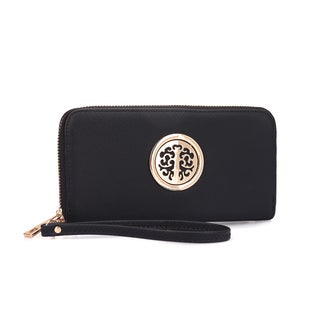 Dasein Zip Around Emblem Wallet (Option: Red)