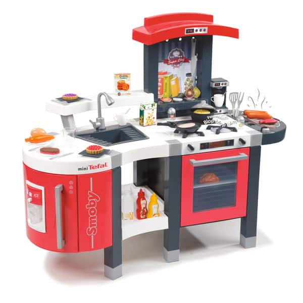 Shop Black Friday Deals On Smoby Tefal Super Chef Deluxe Play Kitchen With 47 Accessories Overstock 12370508