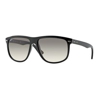 Ray-Ban Men's RB4147 56 Black Plastic Square Sunglasses