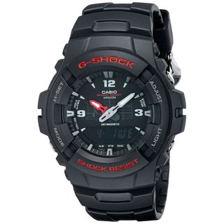 Casio Men's G100-1B 'G-Shock' Analog-Digital Black Resin Watch