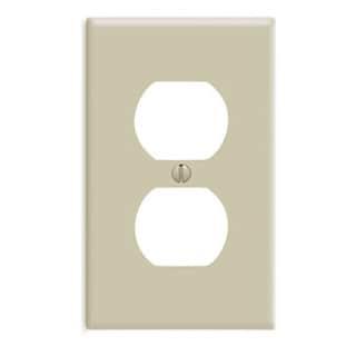 Leviton 020-86003 Single Gang Ivory Duplex Receptacle Wallplate