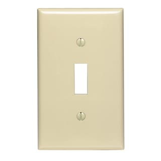 Leviton 021-00PJ1-00I 1-Gang Midway Size Ivory Toggle Device Wall Plate