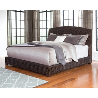 Dark Brown Banana Leaf Woven Bed