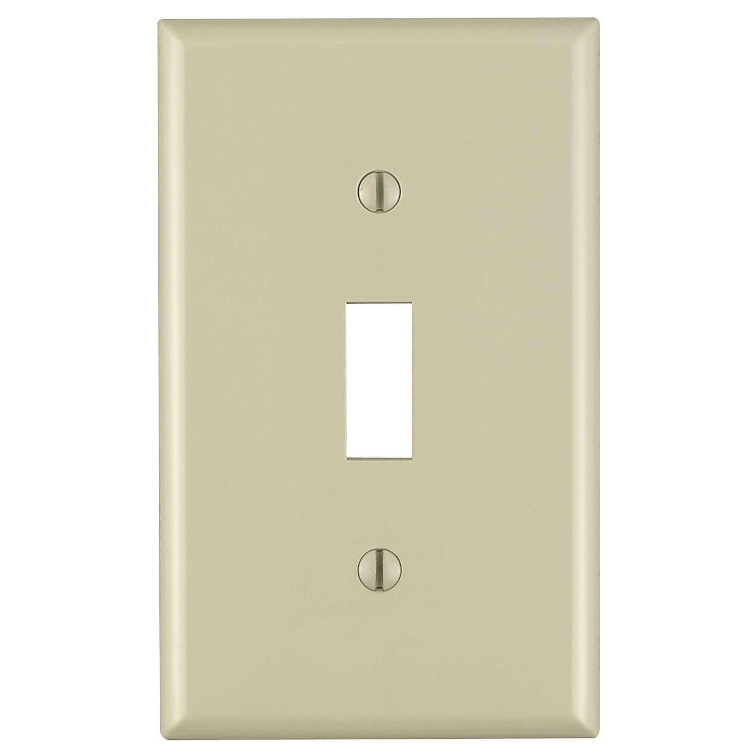 Leviton 021-80701-00I Single Gang Ivory Single Toggle Commercial Grade Wallplate (Switches&outlet covers)