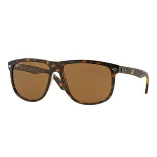 Ray-Ban Men's RB4147 710/57 Tortoise Plastic Square Polarized Sunglasses