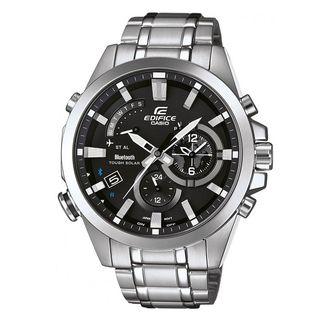 Casio Men's EQB510D-1ACR 'Edifice Bluetooth Smart' Analog-Digital Stainless Steel Watch