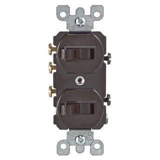 Leviton 030-5241-0 Brown Commercial Grade 3-Way AC Combination Switch Toggle